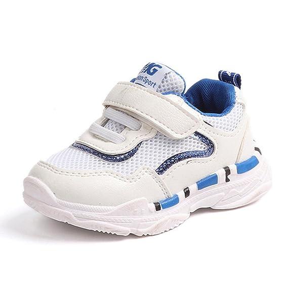 YanHoo Zapatos para niños pequeños Zapatillas de Deporte Casuales Malla Suave Zapatos con Letras Calzado Deportivo Transpirable para Hombre y Mujer ...