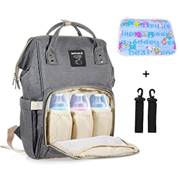 200dfa125f Mastery Baby Diaper Bag Backpack - Large Capacity Waterproof Travel Mommy Nappy  Bags with Changing pad