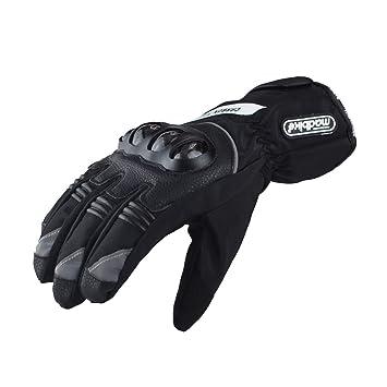 6ea254b2c24b9f Madbike Motorrad-Handschuhe, wasserdicht mit Karbonfaserschutz: Amazon.de:  Auto