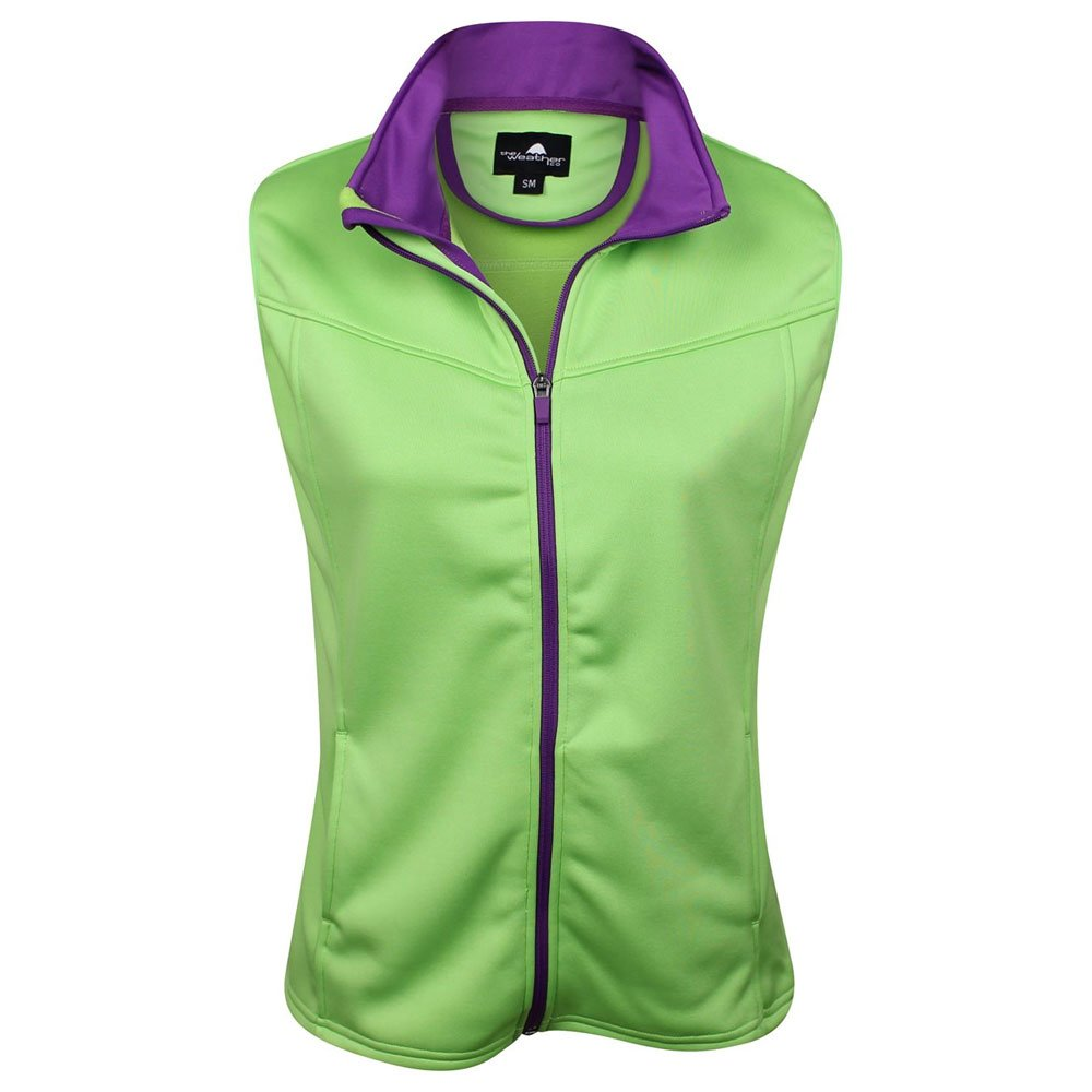 The Weather Apparel Co Poly Flex Golf Vest 2017 Women Lime/Purple Medium