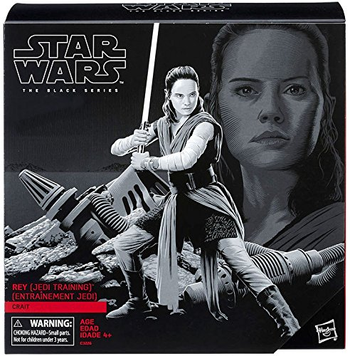 Star Wars The Black Series 6 inch Action Figure - Rey (Jedi Training) on Crait