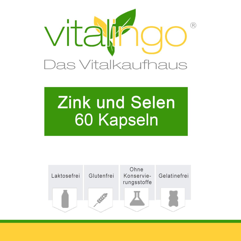 Zinc Selenio cápsulas - 60 zinc et selenio cápsulas á 600mg ...