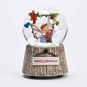 Roman Peanuts Charlie Brown and Snoopy Christmas Decorating Musical Glitterdome