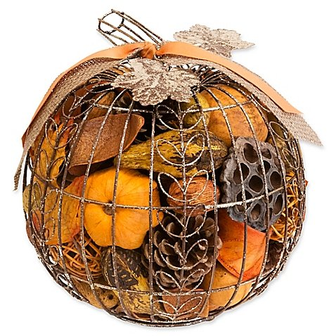 Harvest Blossom Pumpkin Wire Potpourri (Pack of 4) by Harvest Blossom