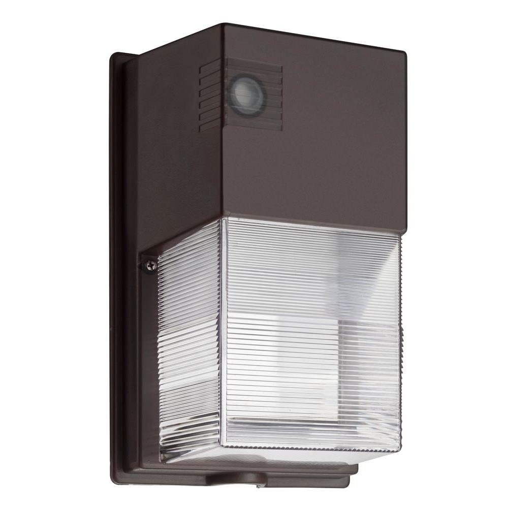 Lithonia Lighting OWP LED 1 50K 120 PE M4 Wall Mount Outdoor LED Wall Pack Light, Black-Bronze