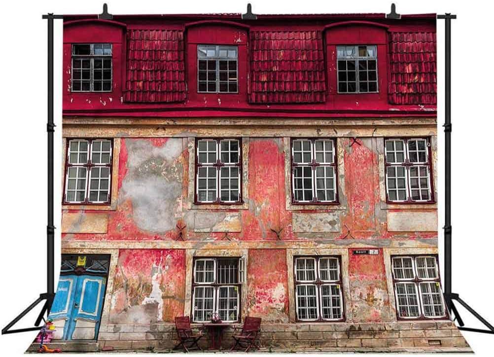 5x5FT Vinyl Photography Backdrop,Urban,Old City Tallinn Estonia Photo Background for Photo Booth Studio Props
