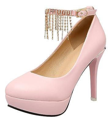 Damen Pumps/Stilettoabsatz/High Heels/Damenschuhe/Elegante Schuhe/Beige, EU 35