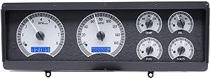 Dakota Digital 78 - 88 Oldsmobile Cutlass VHX Analog Dash System Silver Alloy Blue VHX-78O-CUT-S-B