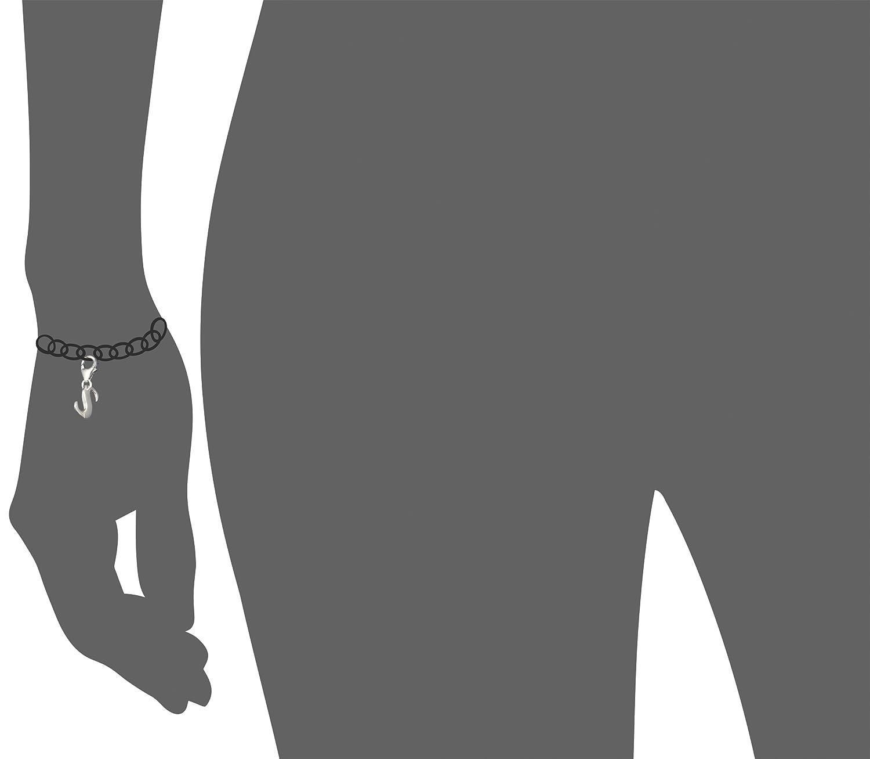 collier boucle doreille FC70S SilberDream Lettre S en argent sterling 925/Pendentif Argent pour Bracelet