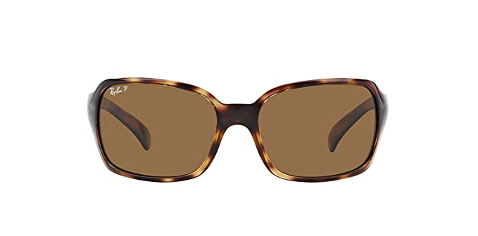 2cfc134d6e Amazon.com  New Ray Ban RB4068 642 57 Tortoise  Brown Classic B-15 60mm  Polarized Sunglasses  Clothing