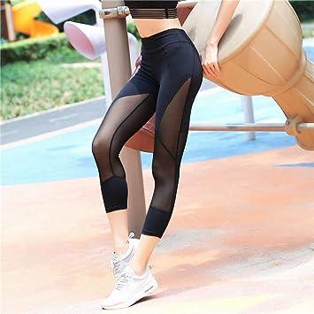 WZXY Mesh Patchwork Yoga Pants Fitness Sports Leggings Pants ...