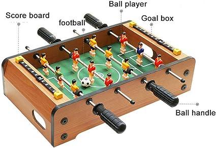 Creing Mesa de futbolín, portátil, con Dos Pelotas y Marcador para ...