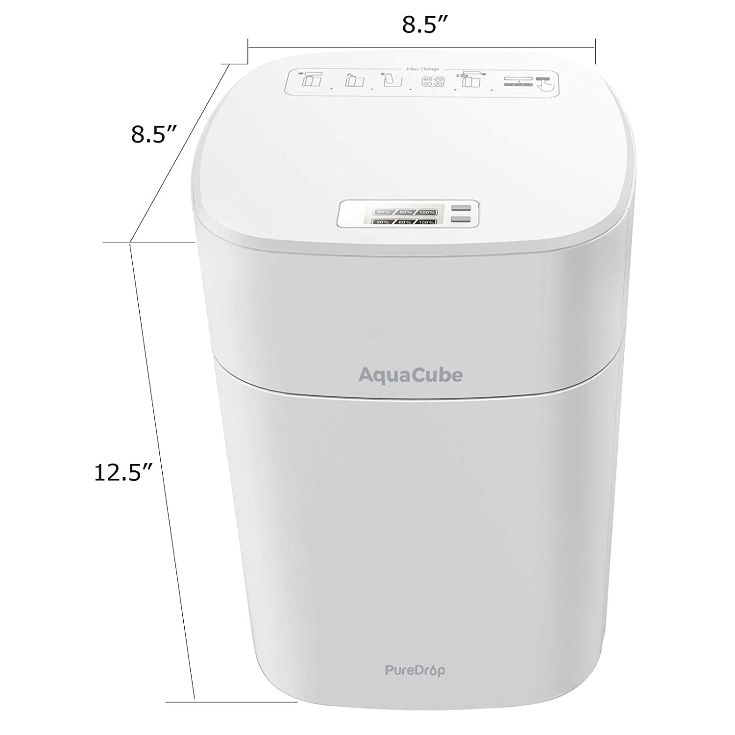 Refrigerator and RV PureDrop CUW4 Aquacube 4-Stage Compact High Efficiency Multi-Purpose Drinking Water Filter System for Sink Removes Bacteria Lead Giardia Arsenic and Much More