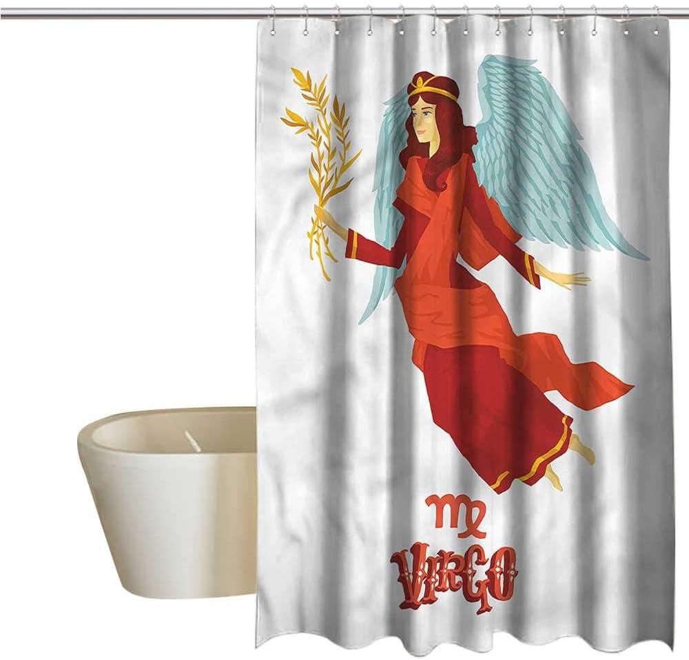 Denruny Cortinas de Ducha Aspecto de Granero, Virgo, para Mujer con alas, Cortina de Ducha para pequeño mampara de Ducha: Amazon.es: Hogar