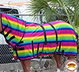 HILASON 66' UV Protect MESH Bug Mosquito Horse Fly Sheet Summer Serape Rainbow