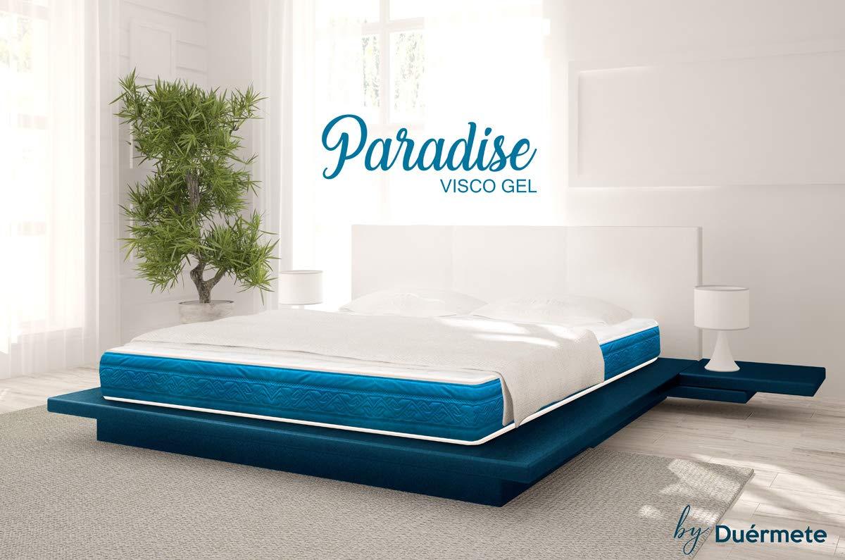 Duérmete Paradise - Colchón Viscoelástico Con Visco Gel de 80 x 180 x 19 cm - Alta Firmeza, Color Blanco: Amazon.es: Hogar