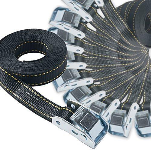 25mm幅 カムバックルベルト エンドレス 7.0m 黒 10本セット