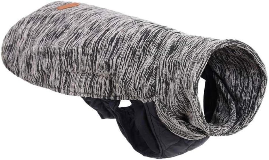 OLADO Cuello de Tortuga Ropa de Abrigo para Mascotas Chaleco sin Mangas Transpirable de Doble Cara Chaqueta para Mascotas Abrigo de protección para el Cuello para el Invierno