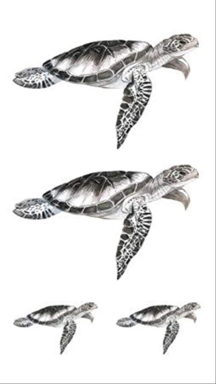 HBDG Tortuga Tortuga Tatuaje temporal Etiqueta impermeable ...
