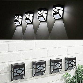 Applique Murale Lampe De Mur Extérieure Imperméable À l\'eau Solaire ...