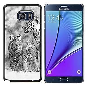 Queen Pattern - FOR Samsung Note 5 N9200 N920 - snow tiger winter Christmas nature - Cubierta del caso de impacto con el patr???¡¯???€????€????&