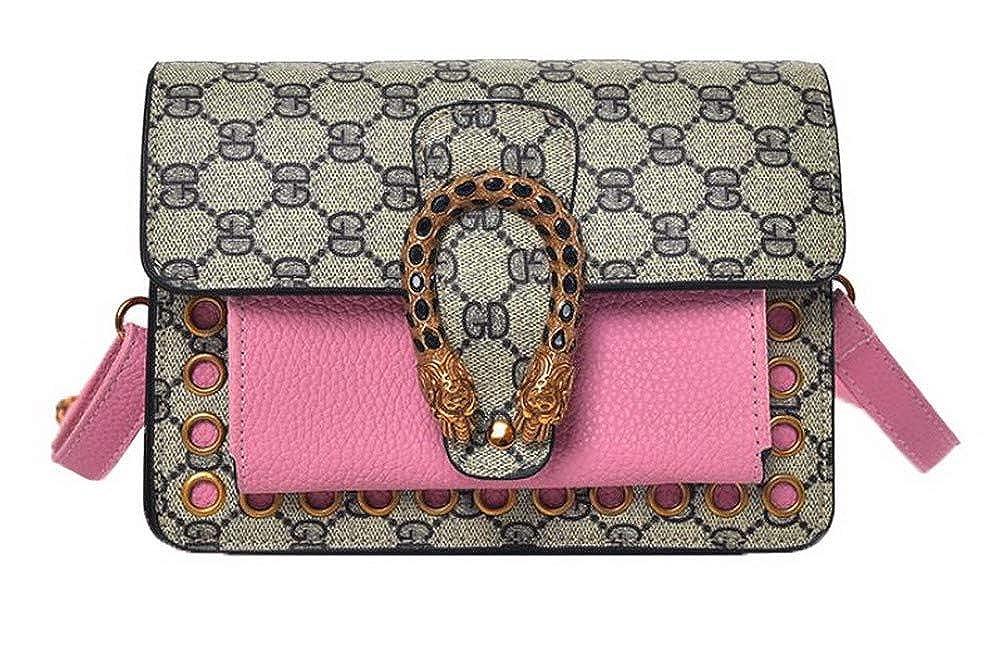Pink WeiPoot Women's Shopping Bags Ornamented Pu Crossbody Bags,EGHBG182480