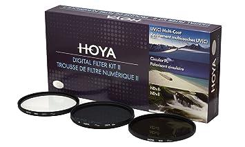 Hoya 62mm (HMC UV/Circular Polarizer / ND8) 3 Digital Filter Set with Pouch