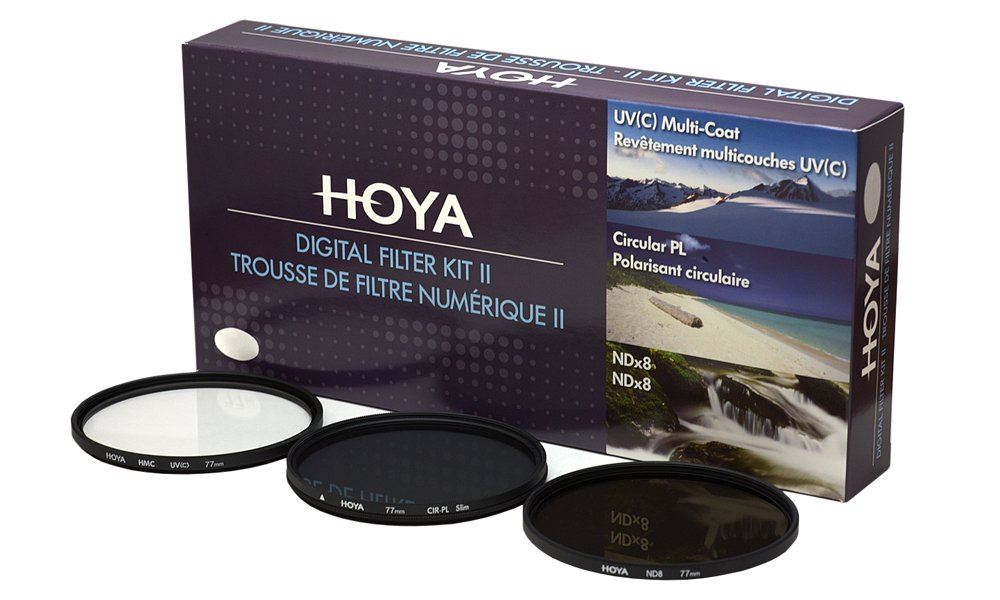 Hoya 62mm (HMC UV / Circular Polarizer / ND8) 3 Digital Filter Set with Pouch