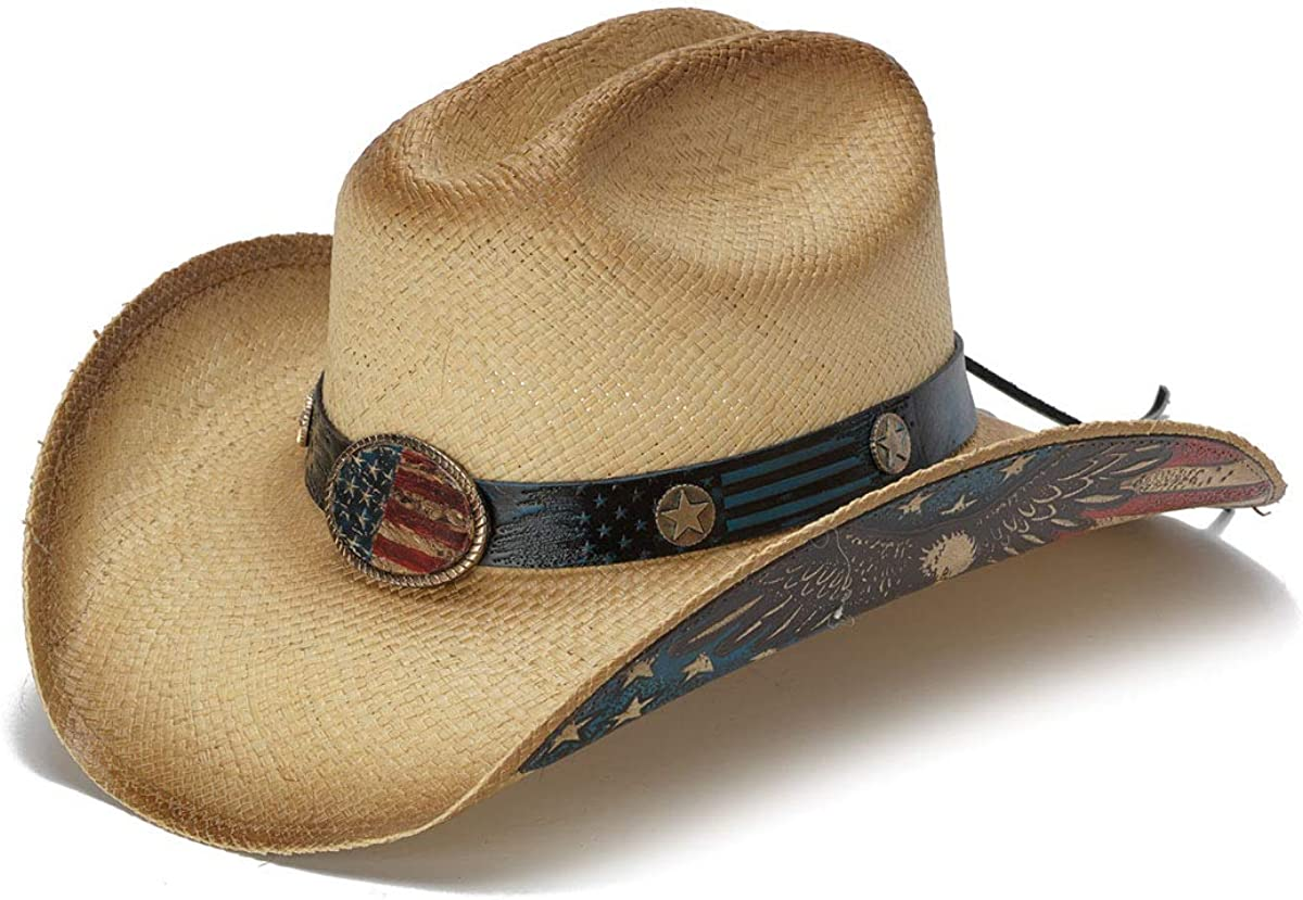 Stampede Hats Mens and Womans American Citizen Vintage USA Flag Western Hat