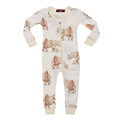 5ee9cd183 Amazon.com  MilkBarn Bamboo Zip Pajamas - Tutu Elephant  Clothing