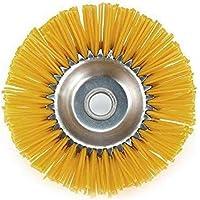 Pakket voor tuingereedschap, nylon, onkruidborstel, borstelkop voor grasmaaiers, binnengat, 25,4 mm, geel, 200 mm, 1…