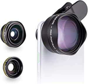 Phone Lenses by Black Eye || Travel Kit G4 Lens Compatible with iPhone, iPad, Samsung Galaxy, and All Camera Phone Models - G4TK001