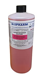Biopharm pH Buffer Calibration Solution   1 Quart Bottle   pH 4.00   NIST Traceable Reference Standards for All pH Meters   Color Coded Red