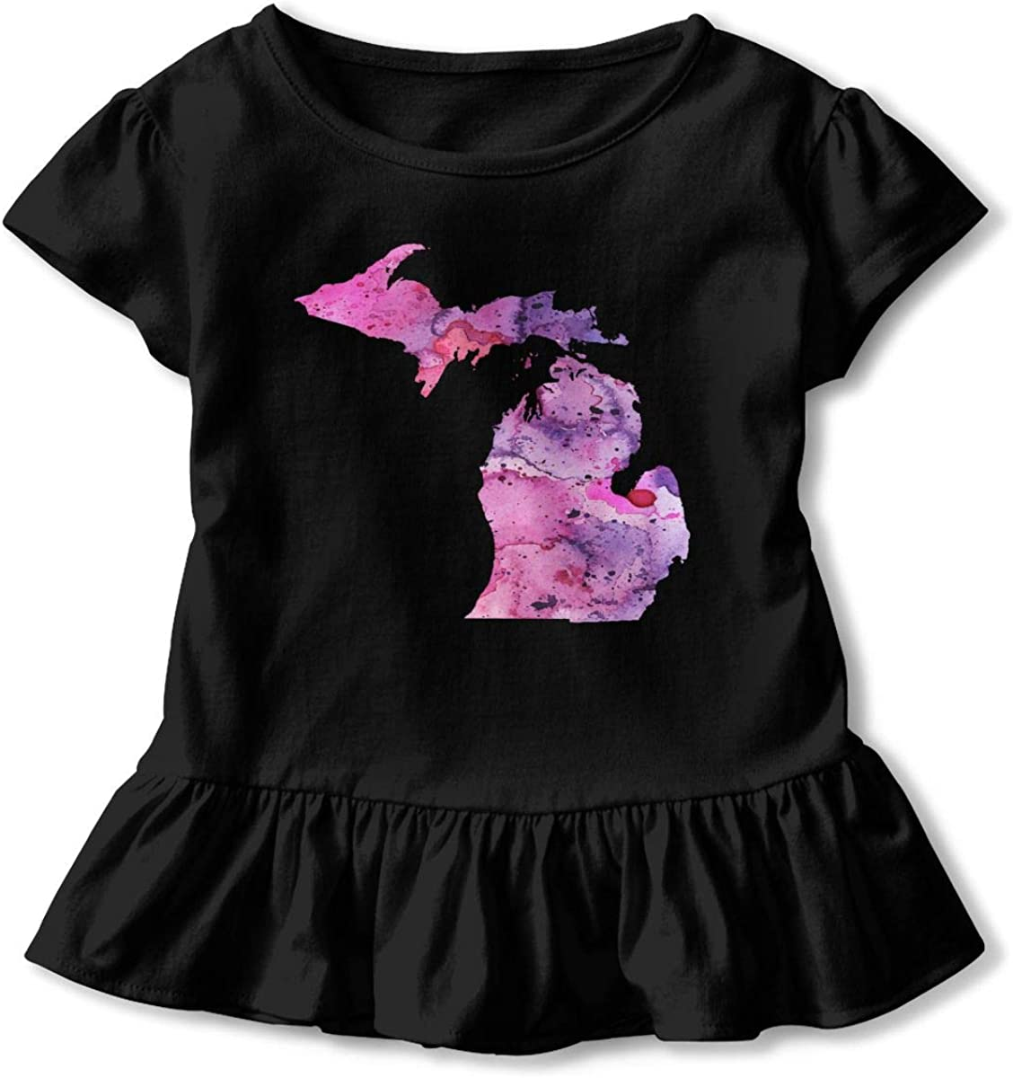 Vintage Albanian Flag-2 Toddler Girls Short Sleeve Cotton T-Shirt