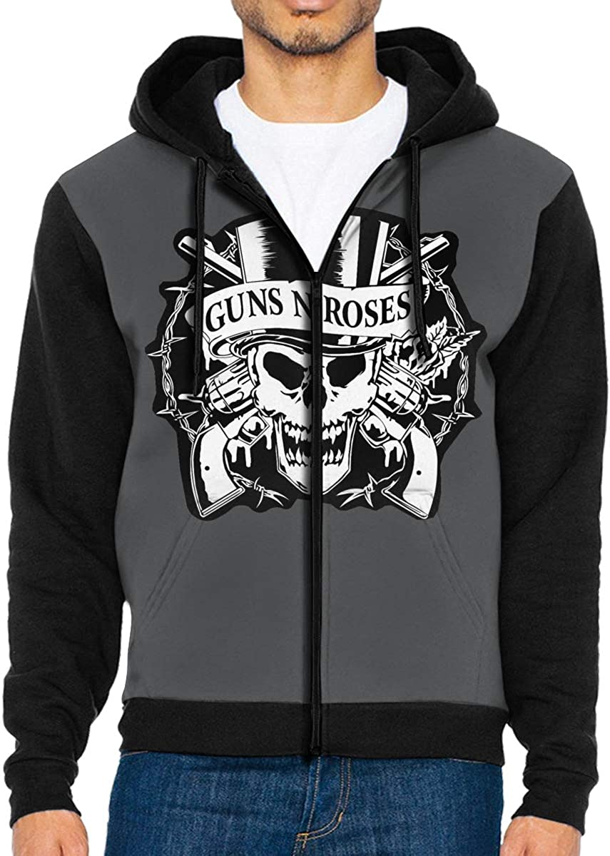 Takeyia Full-Zip Classic Hood Hooded Sweater GNR LogoSweatshirts for Men