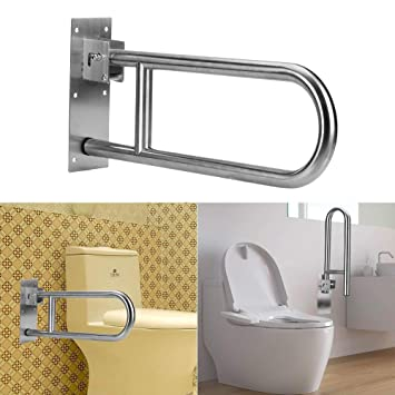 Surprising Folding Handicap Grab Bars Rails Toilet Handrails Bathroom Support Safety Rail For Elderly Bariatric Disabled Stainless Steel Commode Medical Home Interior And Landscaping Oversignezvosmurscom