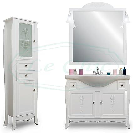 Mueble baño blanco mate con tallar 105 cm muebles baño blanco ...