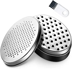 Cheese Grater with Food Storage Container and Lid Vegetable Chopper,Perfect for Hard Parmesan or Soft Cheddar Cheeses, Vegetables, Chocolate (Black)