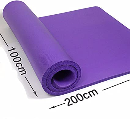 Amazon Com Gtvernh Double Thick Purple Yoga Mat 10mm 15mm 20mm Long 2 M Wide 1 M Yoga Mat Only Has Stoke Fitness Sports Outdoors