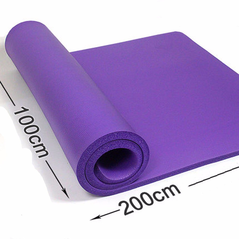 Amazon.com : GTVERNH-Double-Thick purple yoga mat 10mm 15mm ...