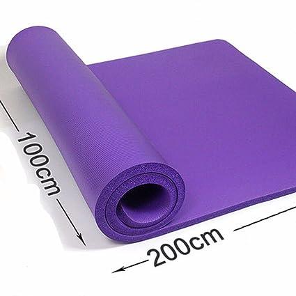 GTVERNH-púrpura Double-Thick esterilla de yoga 10mm 15mm ...