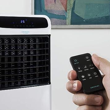 Cecotec Climatizador Evaporativo EnergySilence PureTech 6500. Doble Funci—n Frio / Calor, gran Caudal 600 m_/h, 12l de Capacidad, Temporizador hasta 8 Horas, Mando a Distancia, 3 Velocidades, 80W: Amazon.es: Hogar