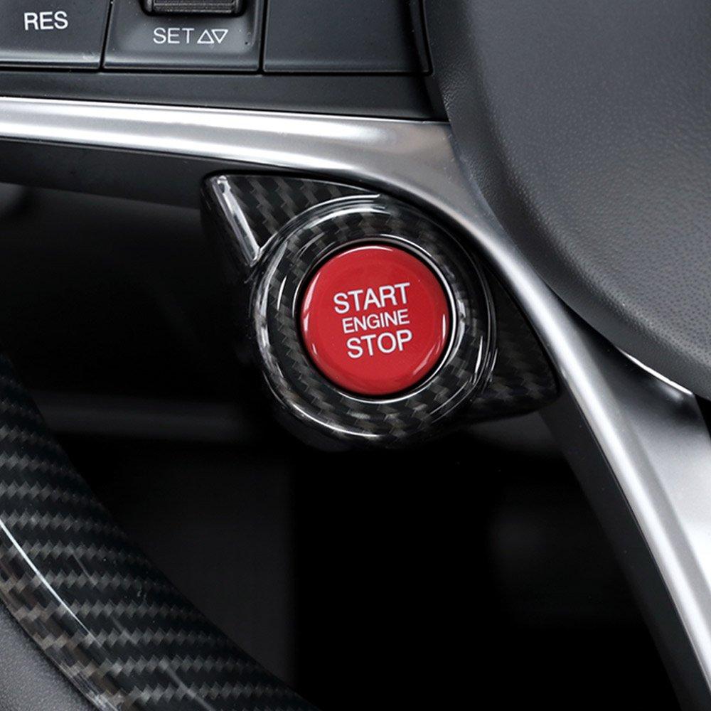 1 Stück Chrom Motor Start Stop Trimmen Für Alfa Romeo Giulia Stelvio 2017