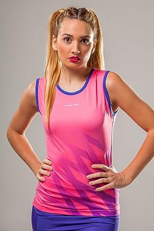 Camiseta Padel Mujer Starvie Power Net Garnet (S): Amazon.es: Deportes y aire libre