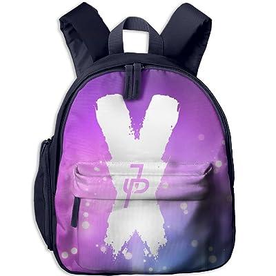 JAKE PAUL X BlackWhite Kid's Mini Backpack Shoulder Schoolbag With Front Pockets