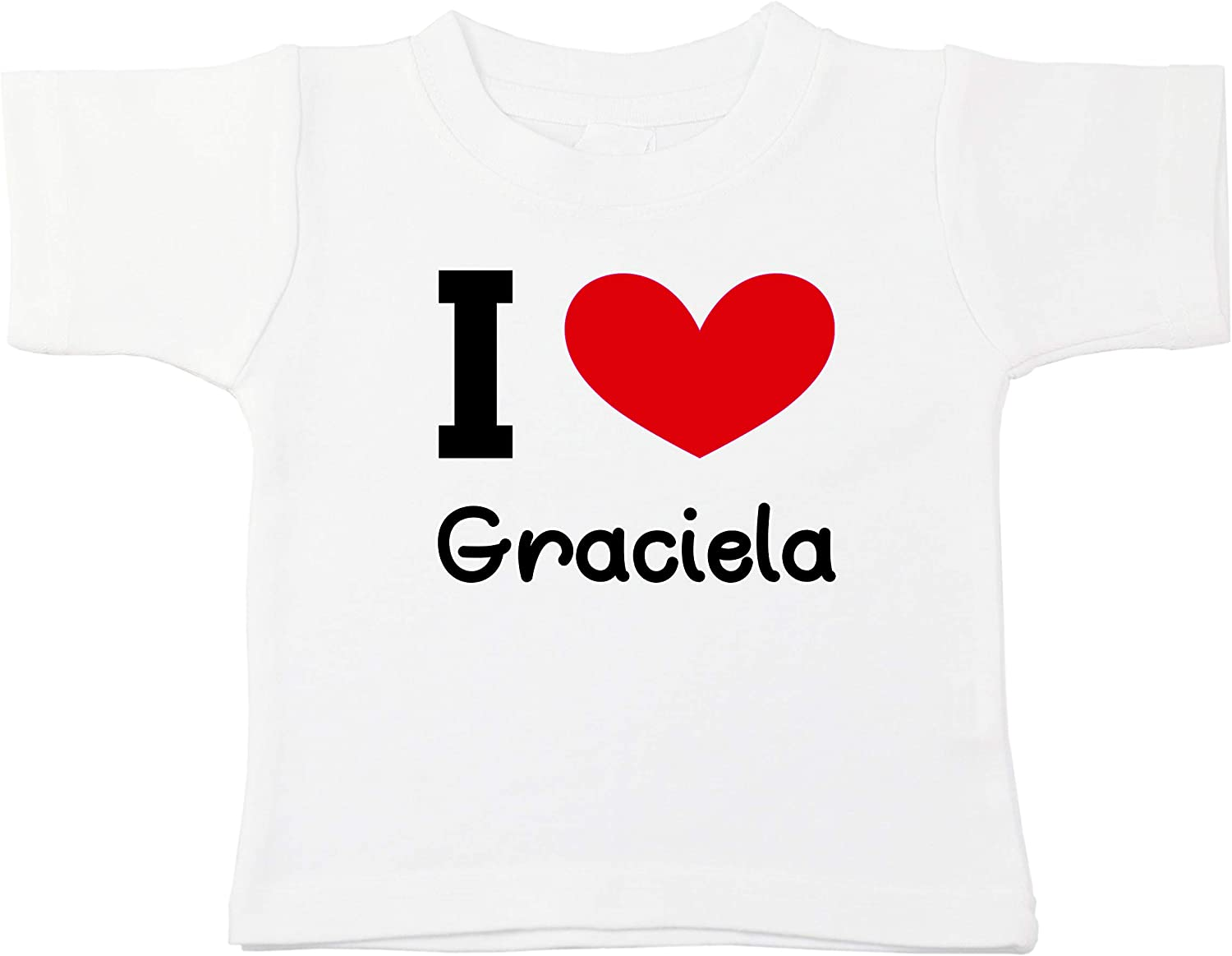 Kinacle I Love Graciela Personalized Baby//Toddler T-Shirt