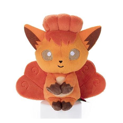 "Takara Tomy Pokemon Chokkorisan Vulpix Goupix Plush Doll 13 cm Peluche 5.1"""