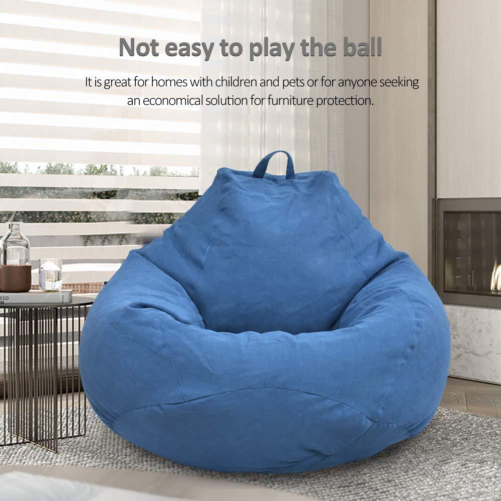 pour adultes et enfants sans rembourrage Dandelionsky Housse de fauteuil poire//pouf classique bleu 80x90cm