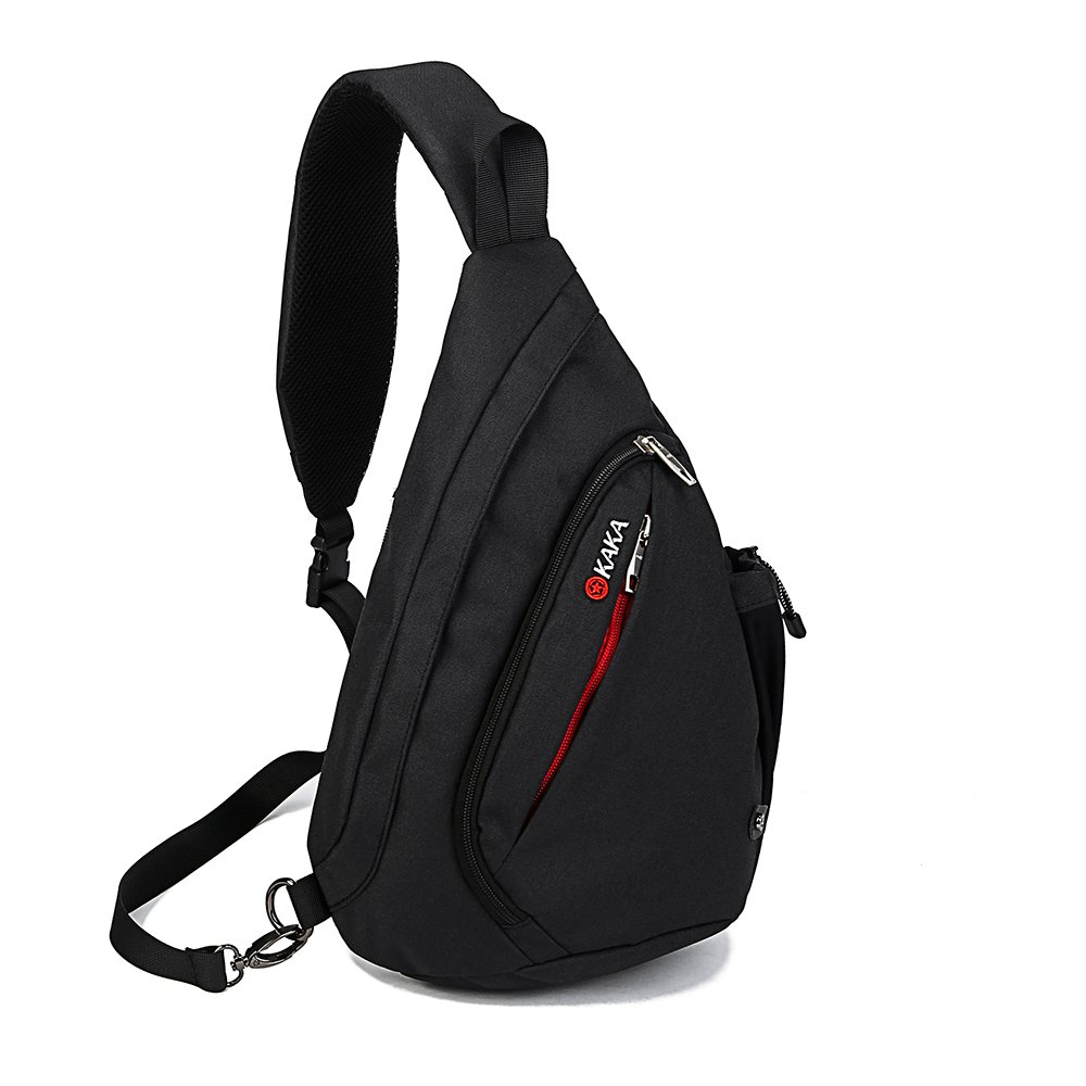 Unisex Sling Bag Backpack Travel Sport Shoulder Chest Crossbody Daypack Black