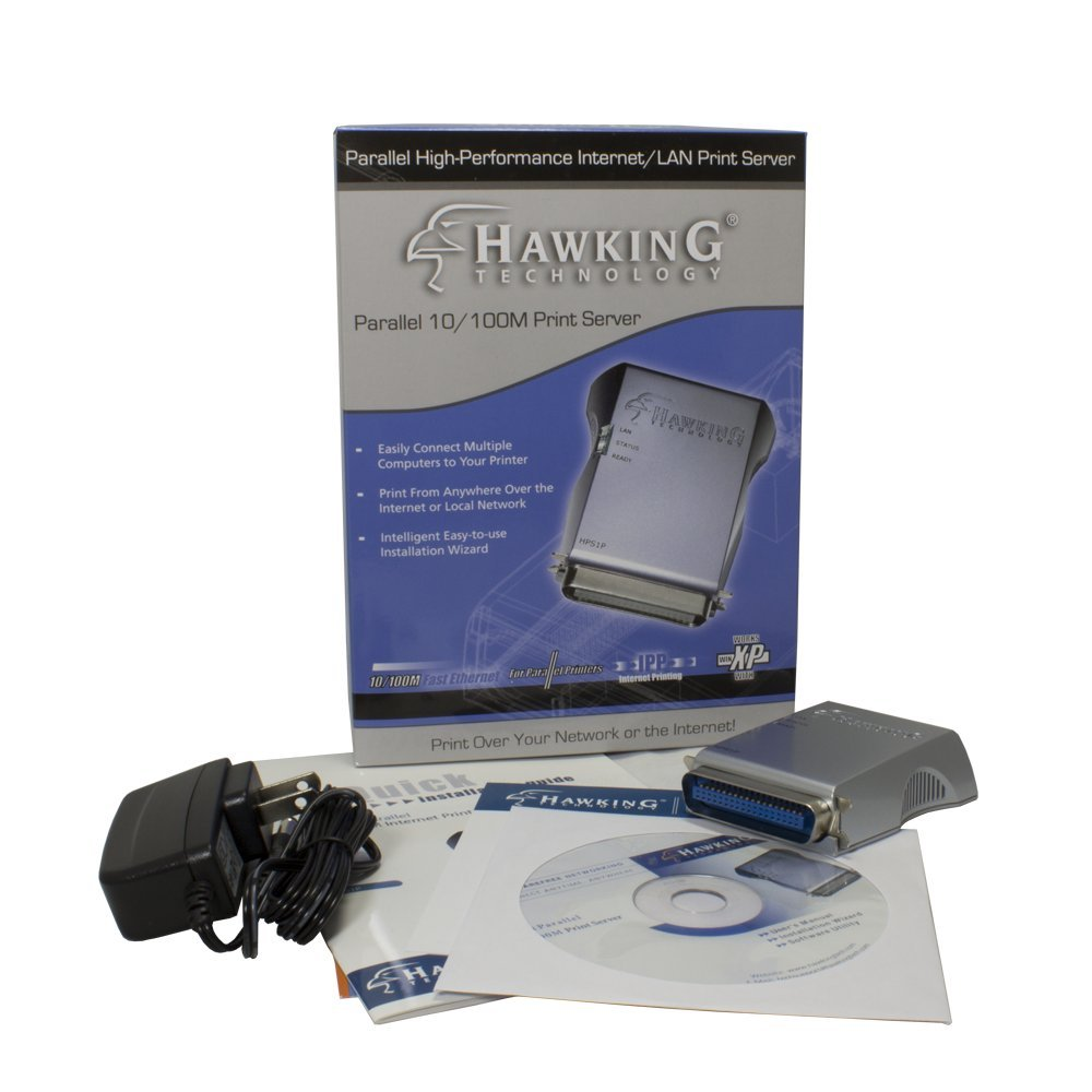 Hawking Technology 10/100M Parallel Print Server (HPS1P)